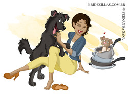 Gaby and her dogs