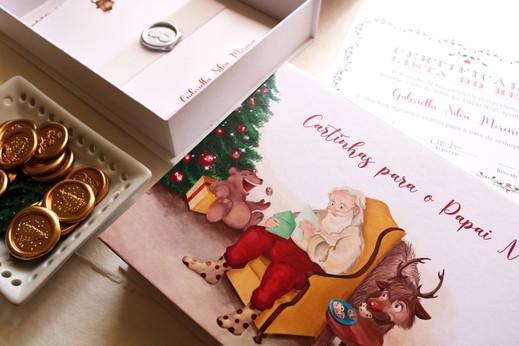 Ilustração para embalagem de Natal