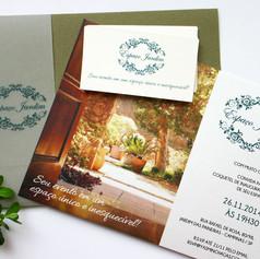 Convite de Lançamento para ESPAÇO JARDIM