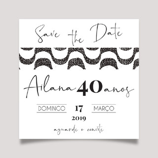 Save the Date Calçada de COPACABANA