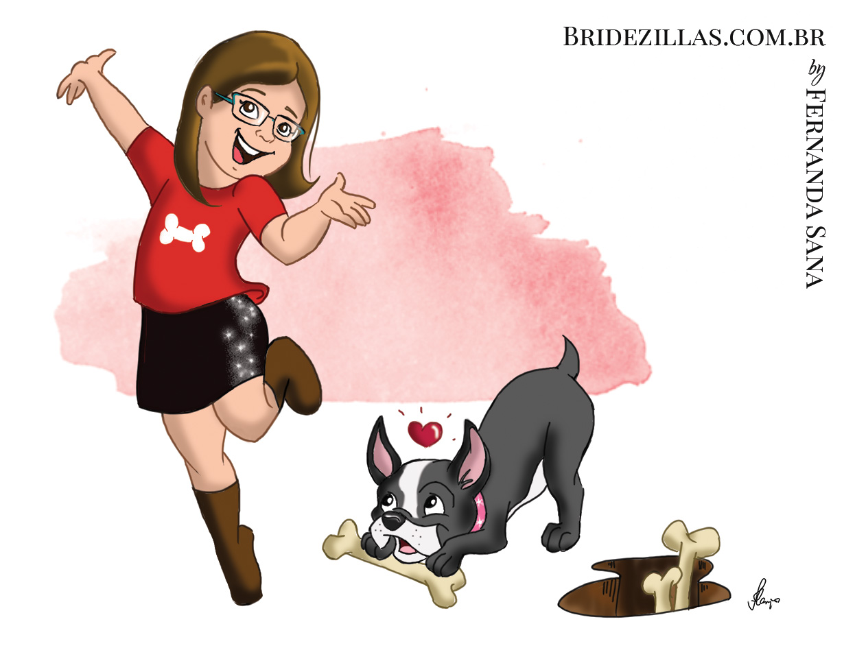 Catherine and her dog