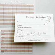 Cartão Pré-Natal para DRA. MARIANA SIMŌES