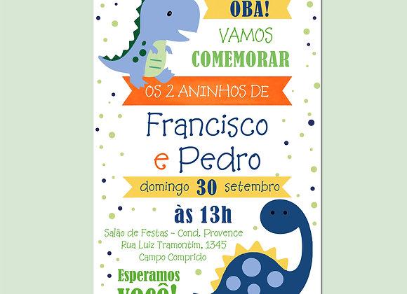 Convite Dinossauros