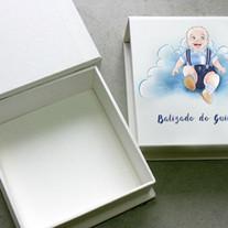 Caixinha para batizado com desenho personalizado