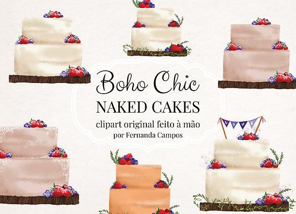 Kit Digital Naked Cake