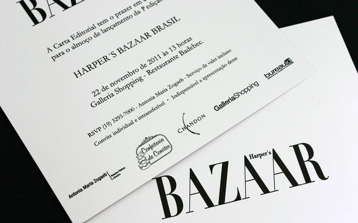 Convite para HARPER'S BAZAAR BRASIL