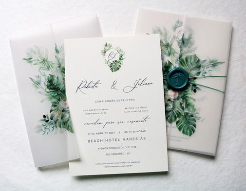 Convite de Casamento BANANEIRA TROPICAL