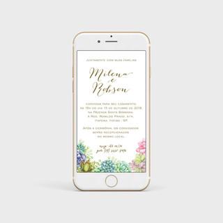 convite de casamento por WHATSAPP