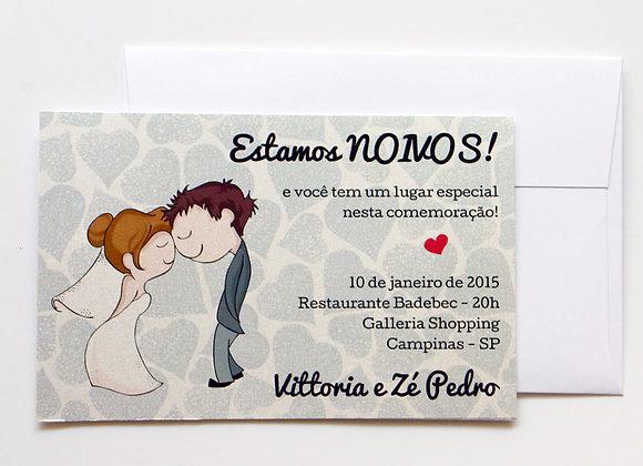 Convite de Noivado Carinho