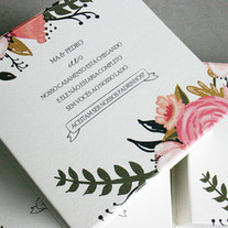 caixinha padrinhos floral