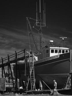 Boat repairs, Annapolis Royal NS