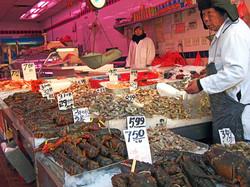 Seafood market.