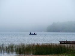 Boat on a lake. NS.