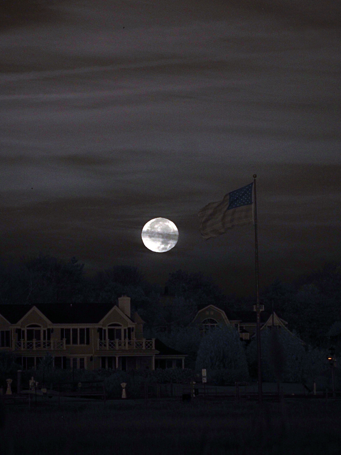 Moon flag, Westhampton Beach NY