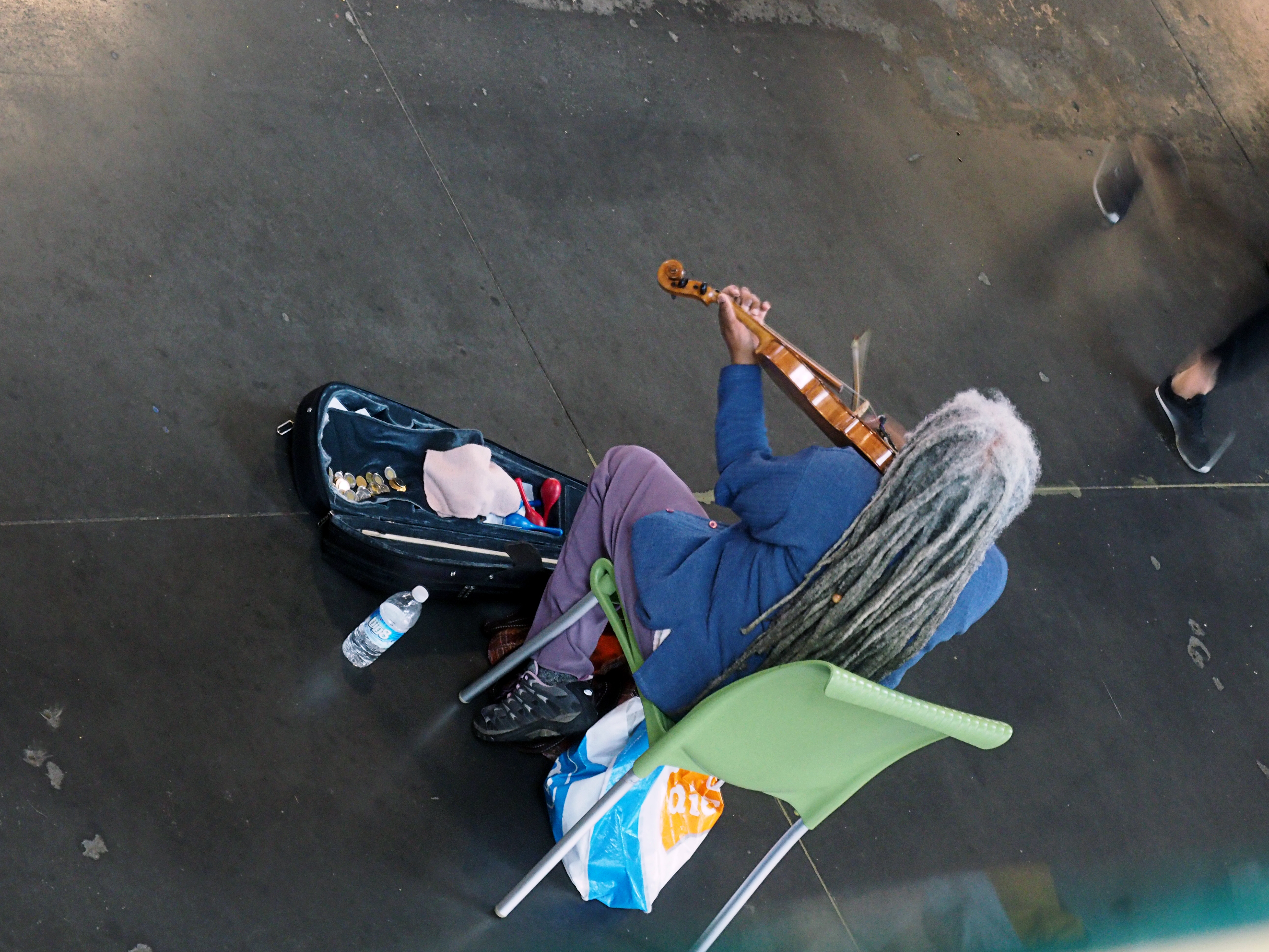 Fiddler, farmers market, Halifax.