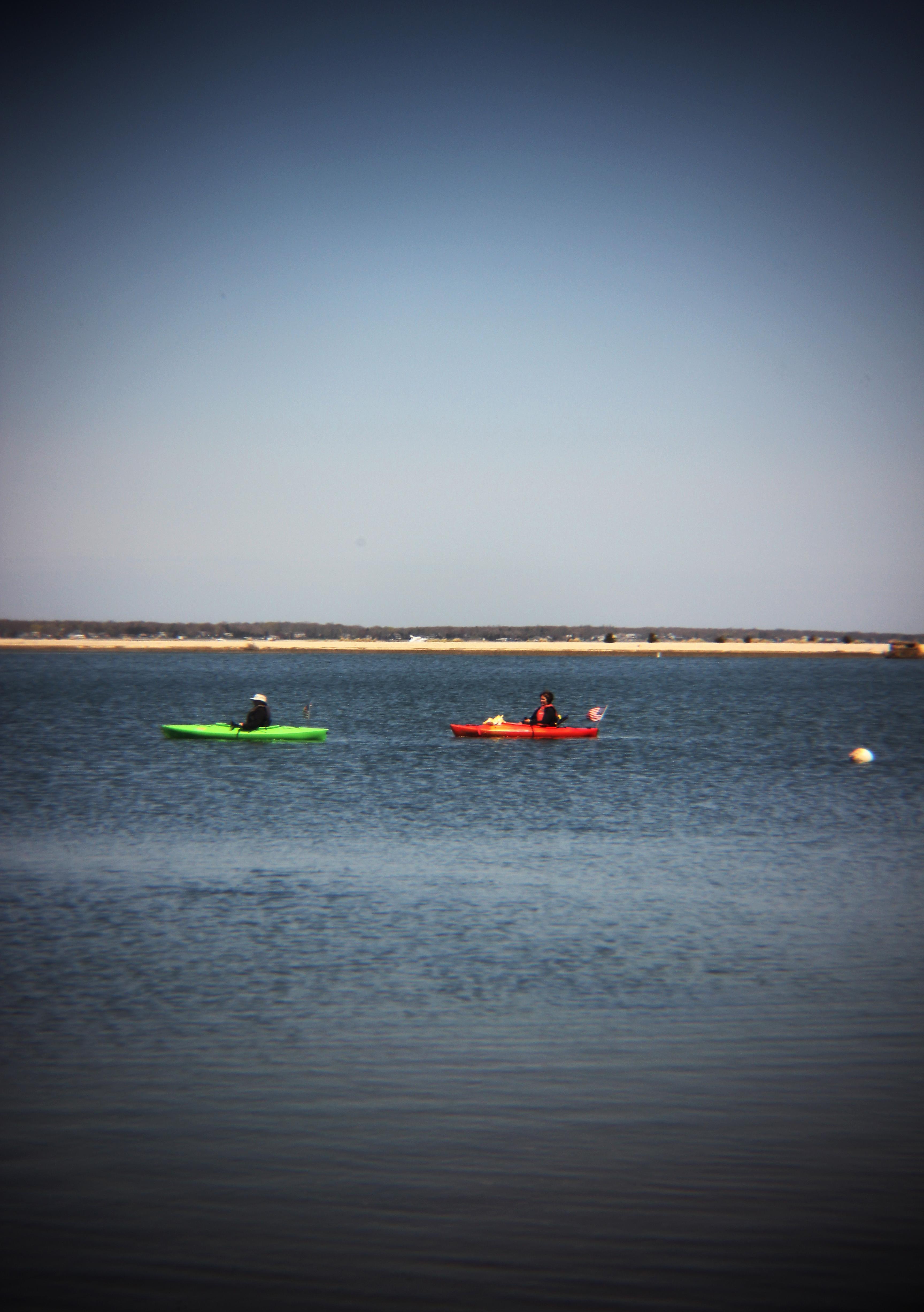 Kayaks, Peconic Bay.