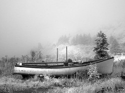 Beached boat, Sandy Cove NS.
