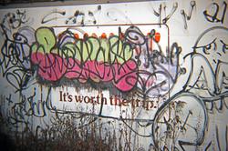 Calverton graffitti.