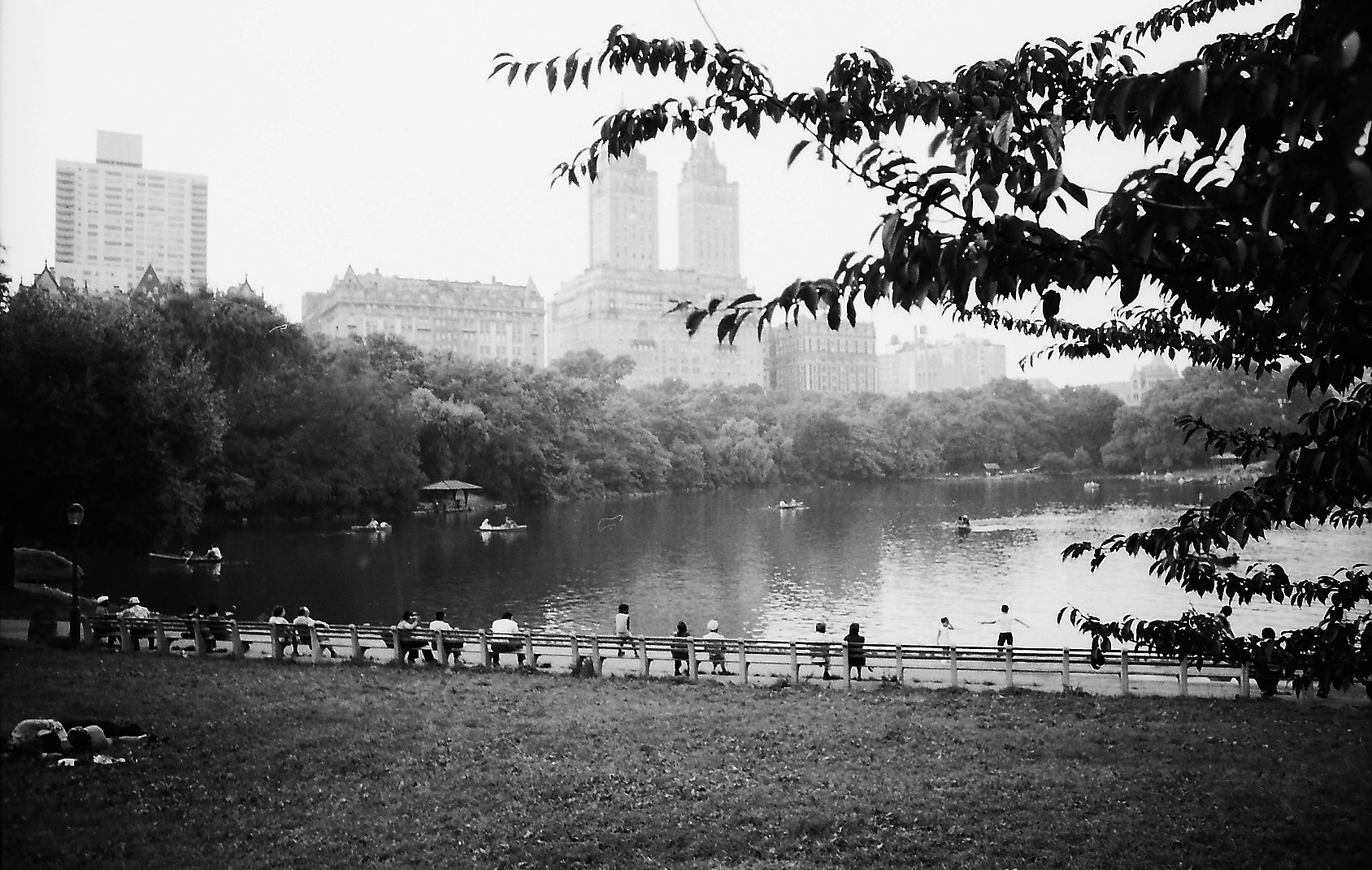 NYC42 Central park lake