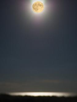 Atlantic moon. Photomontage.