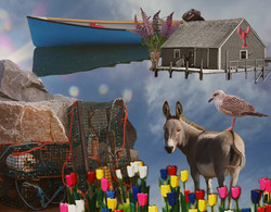 Spring in the Maritimes.Photomontage