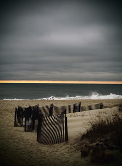 Rogers Beach on a stormy day.