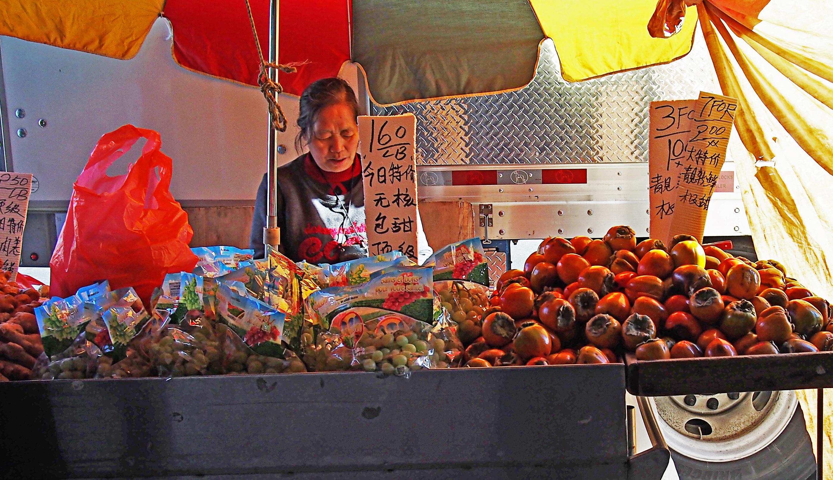 Chinatown persimmons.