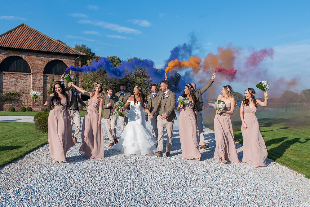 Wedding smoke bombs!