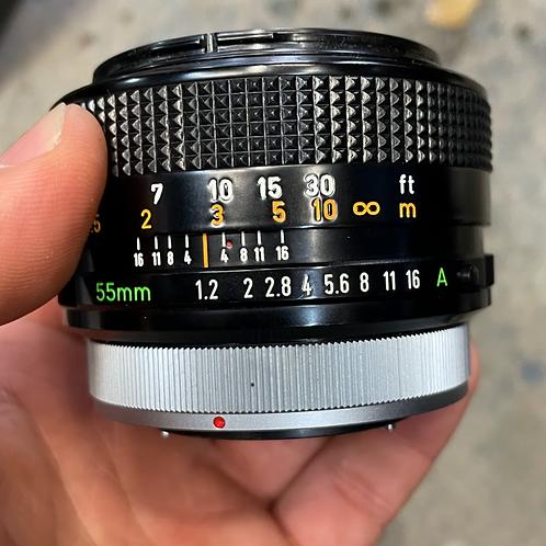 55mm 1.2 Canon FD lens