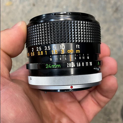 24mm 2.8 Canon FD lens