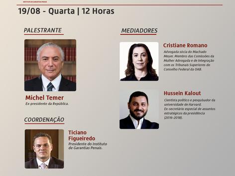 """WEBINÁRIO IGP: """"Cenário político pós-pandemia"""""""