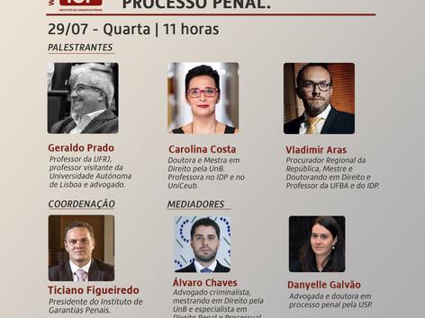 """WEBINÁRIO IGP: """"As garantias processuais e a tendência de acordos no processo penal"""""""