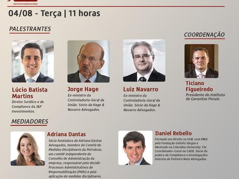 """WEBINÁRIO IGP: """"Compliance, acordos de leniência, lei anticorrupção: questões controversas"""""""