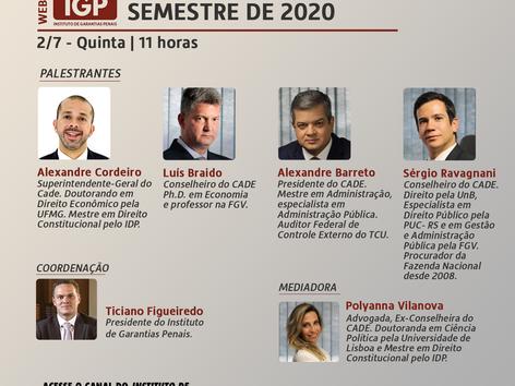 """Webinários IGP: """"Direitos fundamentais e garantias penais"""""""