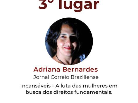 Ganhadores do 1º prêmio IGP de jornalismo e Justiça.