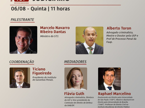 """WEBINÁRIO IGP: """"Novas tecnologias e o Judiciário"""""""