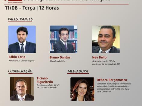 """WEBINÁRIO IGP: """"Fake news e seus impactos na Justiça e na administração"""""""
