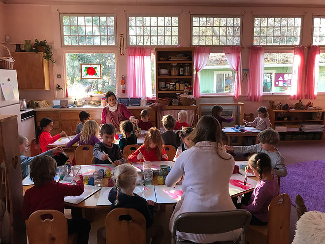 Transitional, mixed age kindergarten classroom