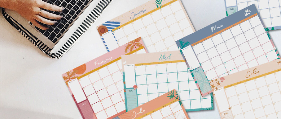 Planner Mensal Verão - Digital