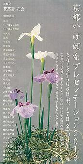 京都いけばなプレゼンテーション2013 フライヤー