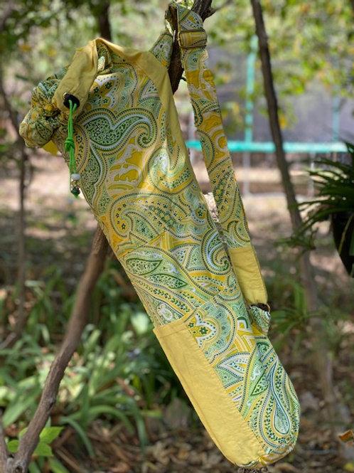 Upcycled Lemon Lime Paisley
