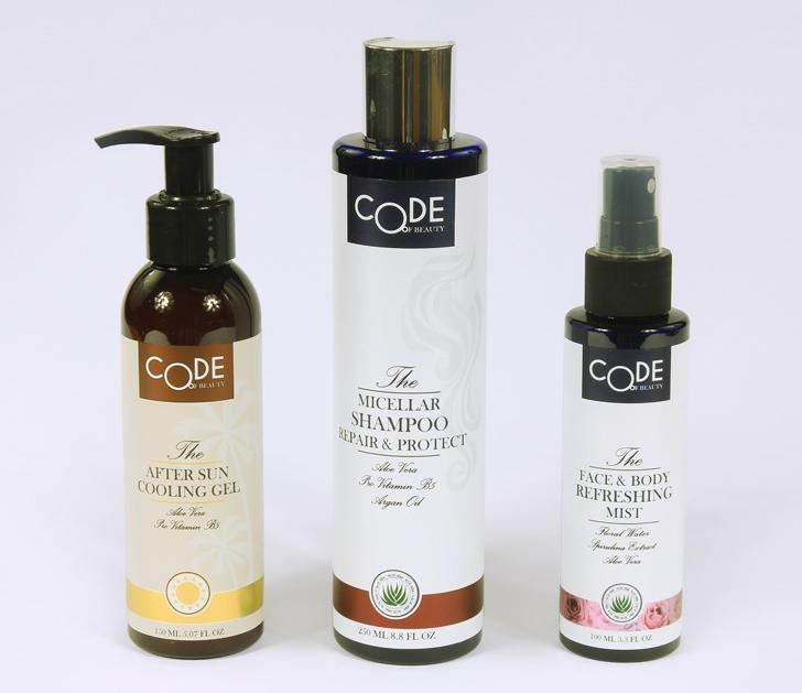 Micellar shampoo & sun cooling gel & refreshing mist