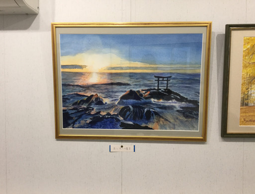 波と岩の響宴 F10+ 水彩画