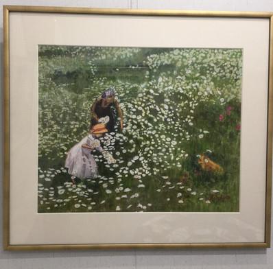 この広い野原いっぱい咲く花 F10 水彩画
