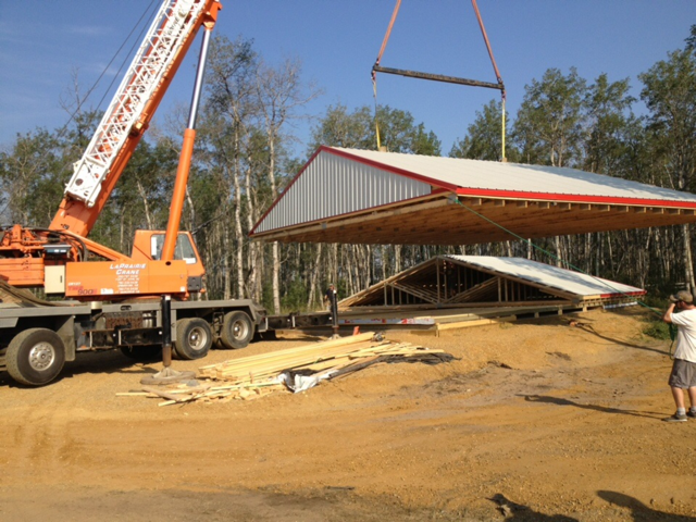 Roof System Installation on Shop