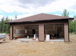 Custom Home - Garage View - Between Grimshaw and Peace River AB