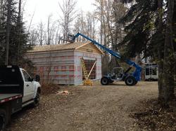 Shop under construction on site.