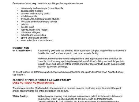 Closure of public Pools and Aquatic Facilities  (click on pic to enlarge)