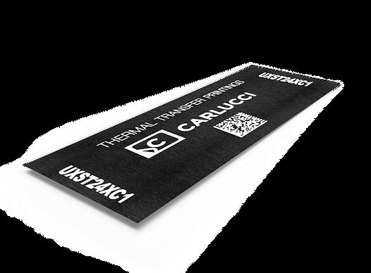 etichetta su raso con qr code thermal transfer print