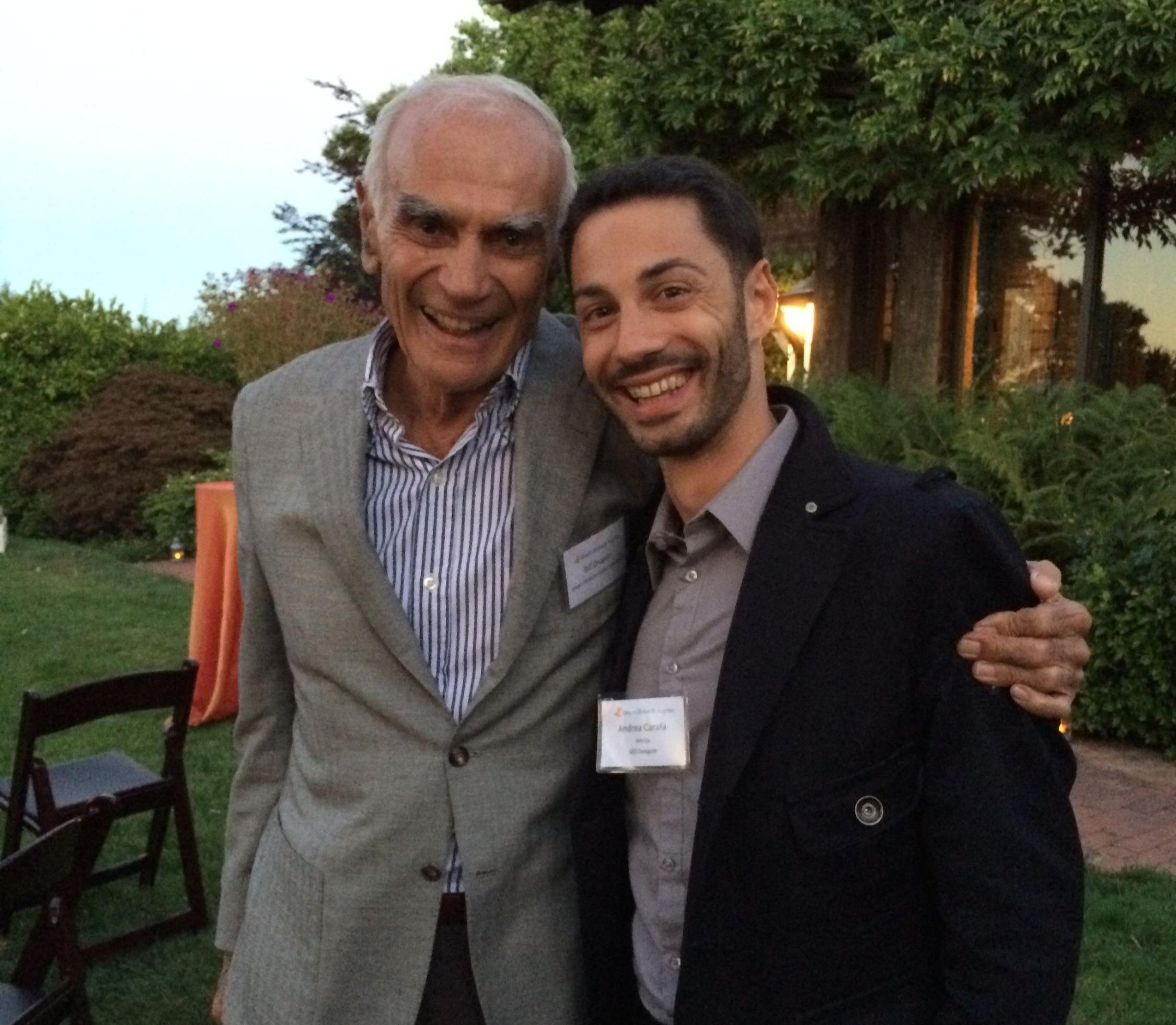 Andrea Carafa and Bill Draper at the Global Entrepreneurship Summit